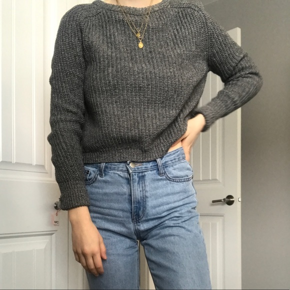 American Apparel- Cropped Fishermen Sweater
